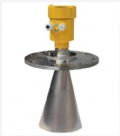 Radar level transmitter for solid particles and blocks